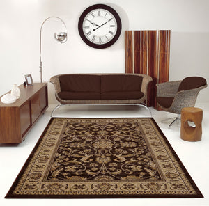 Swallowtail Oriental Brown Cream Area Rug -
