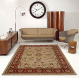 Swallowtail Rust and Cream Oriental Area Rug -