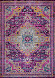 Elson Lilac Beige Traditional Indoor/Outdoor Area Rug