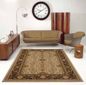 Terra Traditional Brown Cream Area Rug -