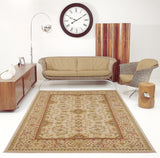 Terra Traditional Ivory Cream Area Rug -