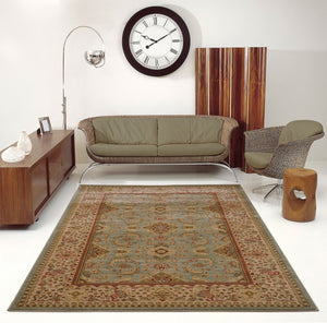 Terra Green Traditional Machine Made Area Rug -