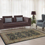 Terra Dark Grey Traditional Area Rug -