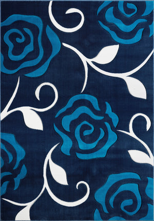 Navy Blue Contemporary Rug