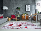 Abstract Floral Area Rug