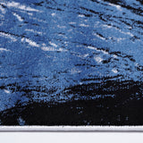 Blue White Contemporary Area Rug