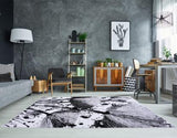Gray Floral Area Rug