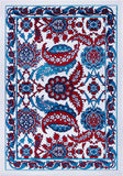 Blue Red Turkish Area Rug