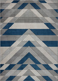 Metrotown Grey Blue Area Rug -