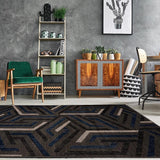 Park Royal Grey Blue Area Rug -