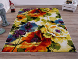 Multi Color Floral Area Rug