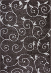 "Ladole Rugs Shaggy Rabat Abstract Pattern Sustainable Spirals Style Indoor Small Mat Doormat Rug in Mink White, 1'10"" x 2'11"" (57cm x 90cm)"