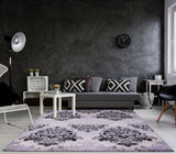 Persian Black Grey Area Rug