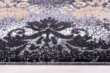 Milan Black Gold Damask Area Rug