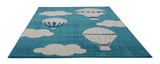 Parachute White Turquoise Kids Area Rug