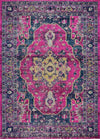 Ladole Rugs Timeless Collection Beverly Pink Purple Traditional Indoor Outdoor Polypropylene Runner Area Rug Carpet