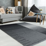 Heather Black Grey Area Rug -