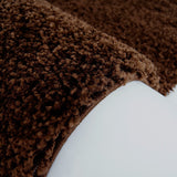Shaggy Solid Brown Area Rug -