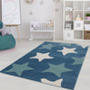 Star Blue Area Rug -
