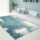 Unigue Teal Area Rug -