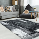 Unigue Black Area Rug -
