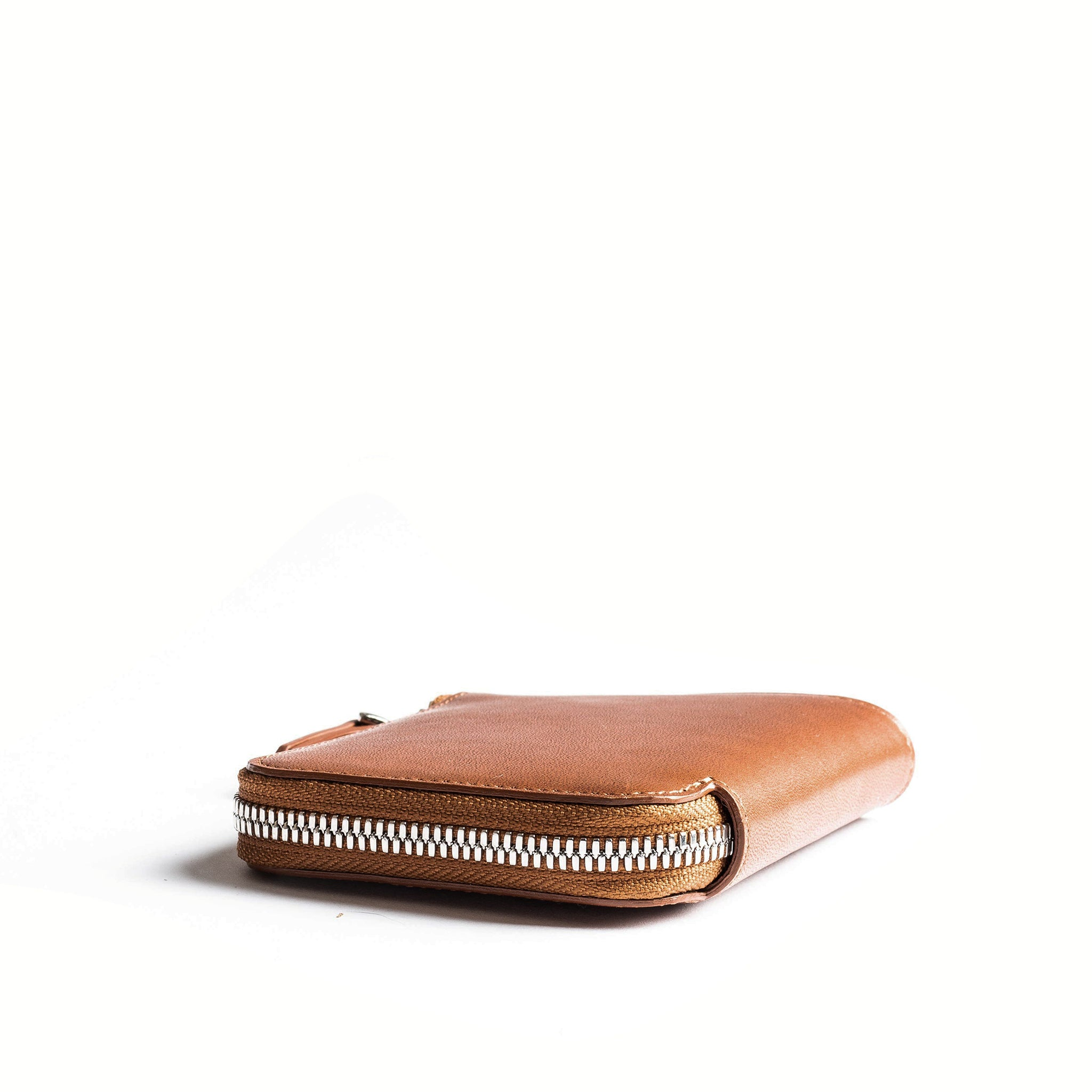 lundi Leather Wallet | CHARLES Cognac