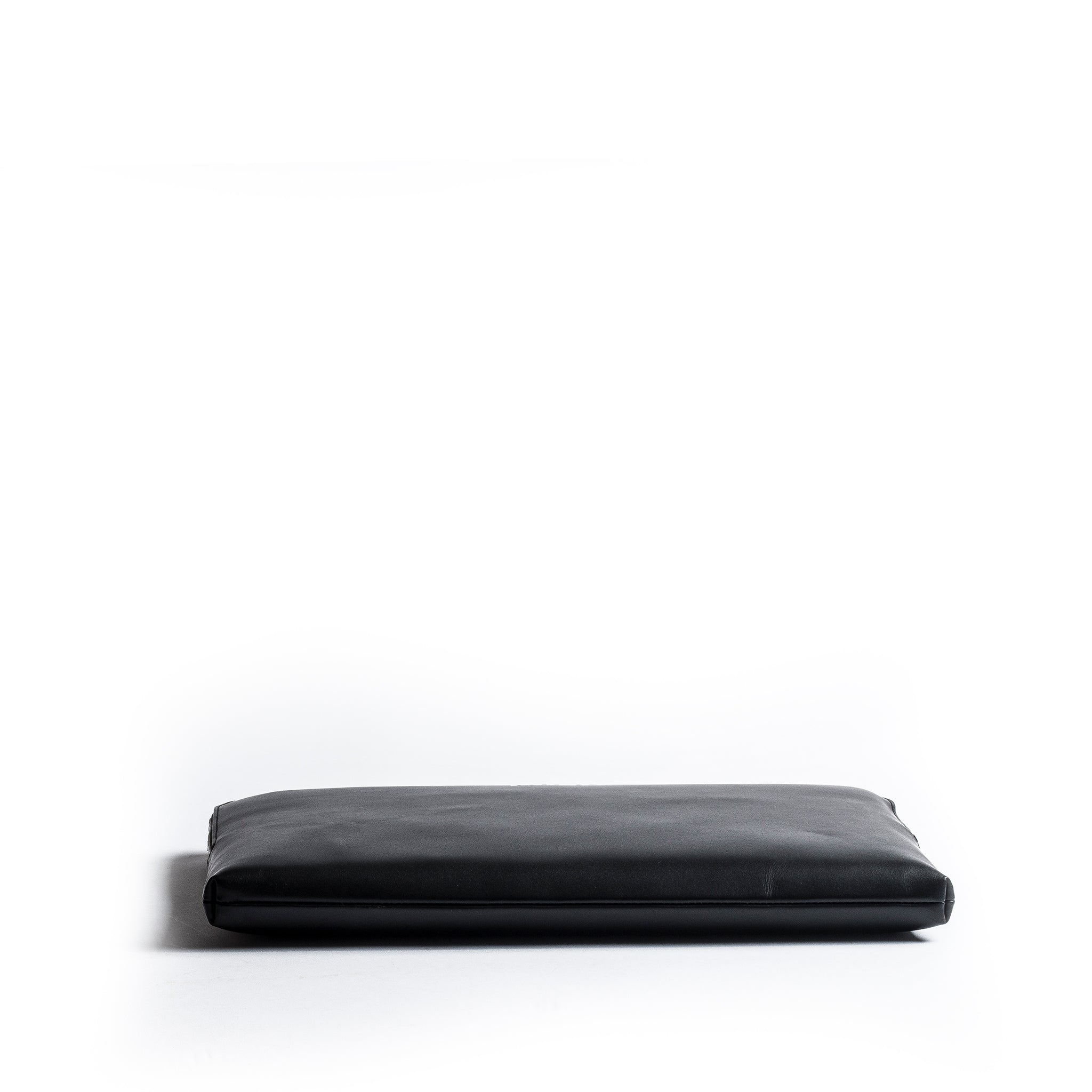 lundi black leather laptop sleeve
