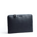 lundi navy leather laptop sleeve