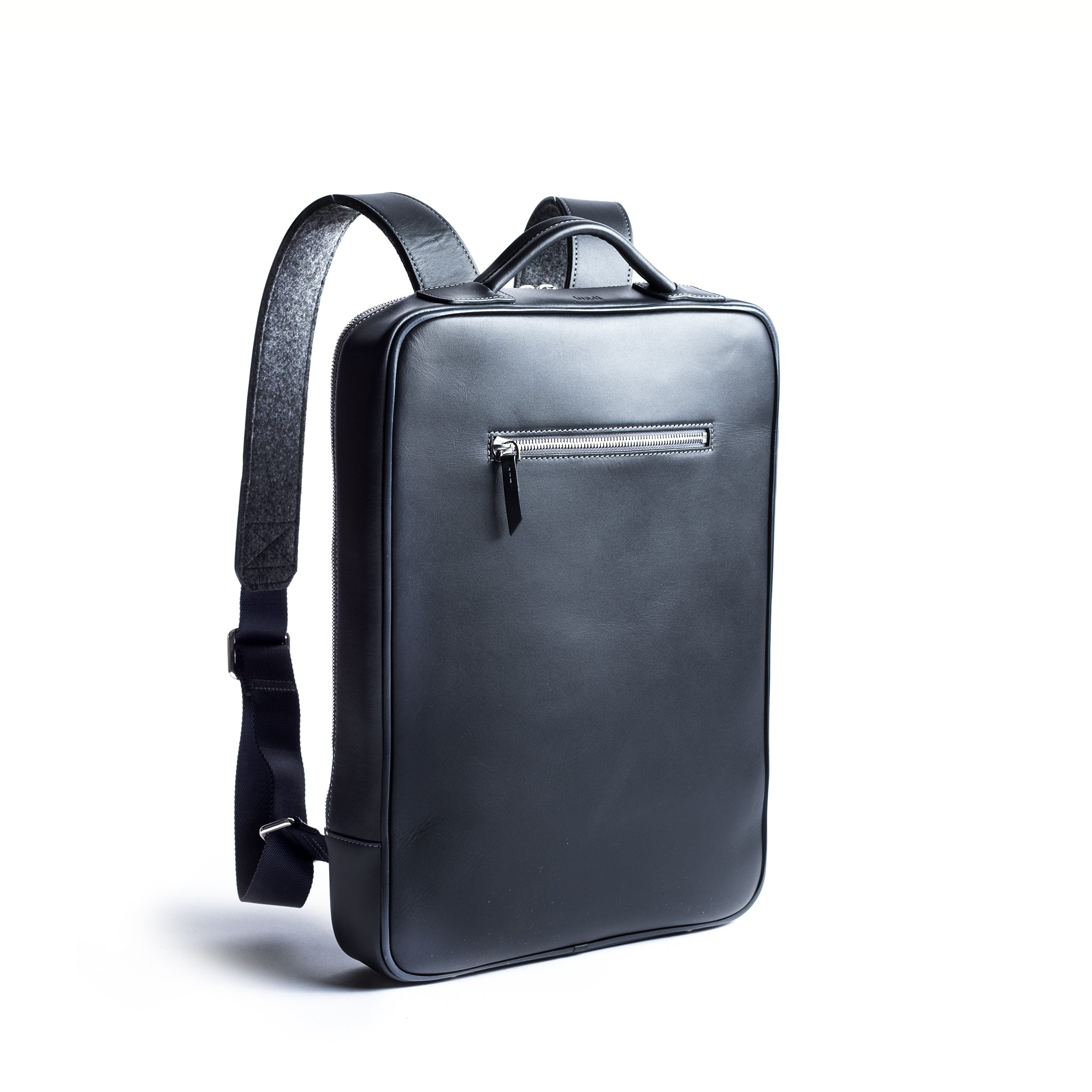 lundi Leather Backpack | SIMON Navy