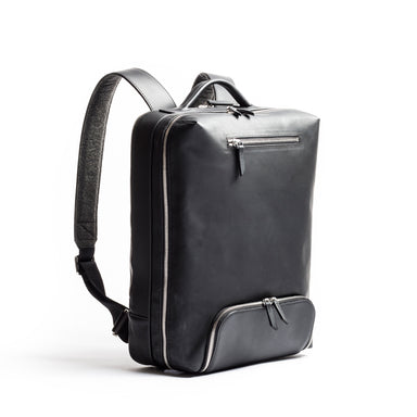 lundi leather and cotton backpack