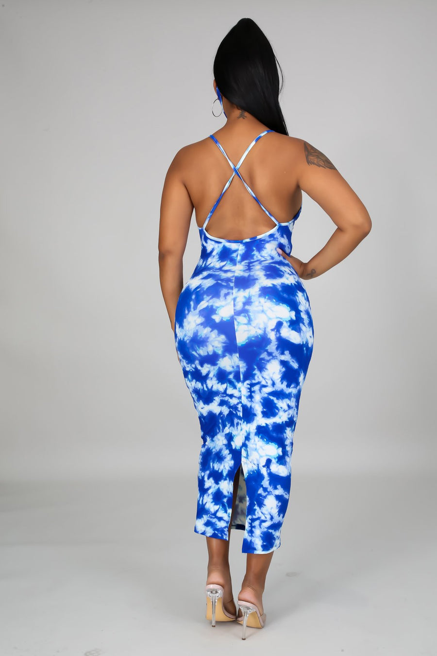 Paint Me Blue Tie Dye Dress Set