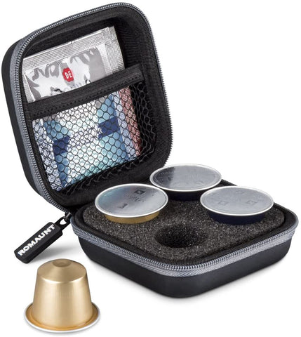 Carrying Case For Nespresso & Compatible Capsules (Holds 4 Pods)
