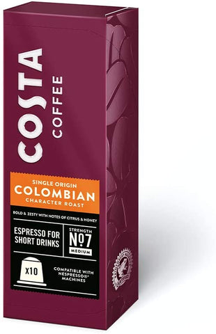 Costa Nespresso ® Compatible Colombia Coffee Pods (10 Capsules)