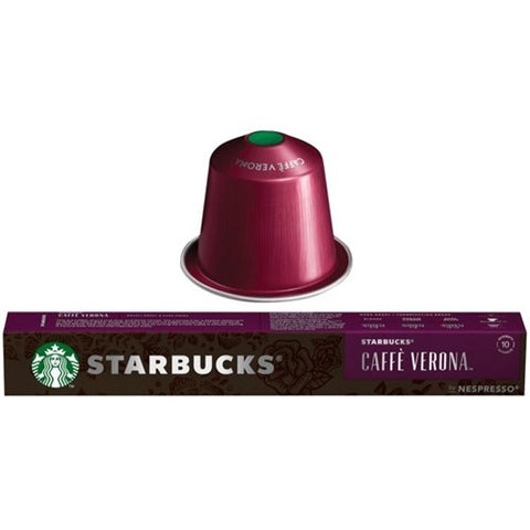 Starbucks Caffè Verona by NESPRESSO Dark Roast Coffee Capsules Tube of 10