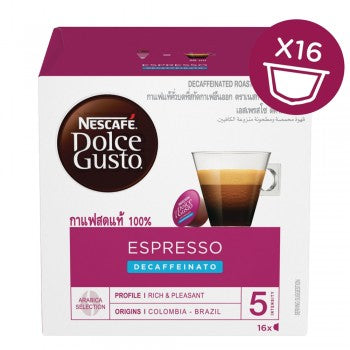 Dolce Gusto® Espresso Decaffeinato  - Number of servings 16