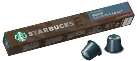 Starbucks Decaf Espresso Roast by Nespresso Dark Roast Coffee Capsules Tube of 10