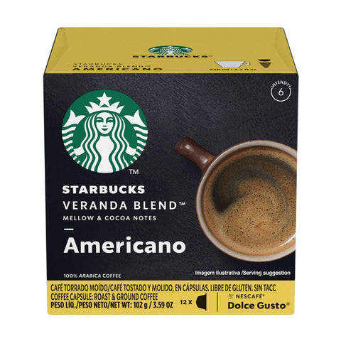 Starbucks Coffee by Nescafe Dolce Gusto, Starbucks Veranda Blend Americano, 12 Capsules