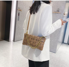 Load image into Gallery viewer, Small Woven bag - Mocha (PRE ORDER- 3 weeks delivery)