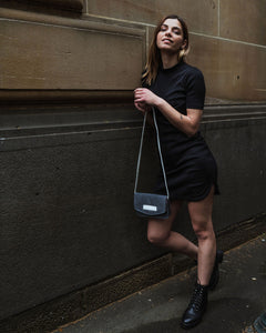 Jake Bag - Charcoal Suede
