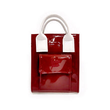 Load image into Gallery viewer, Hankie Bag - Patent Maroon