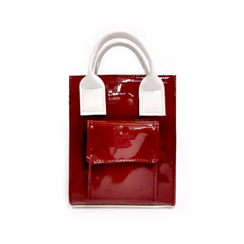PRE ORDER Hankie Bag - Patent Maroon (Early Aug Delivery)