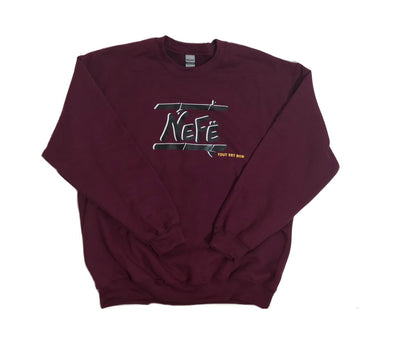 NEFË Originals Crewneck - Berry Burgundy