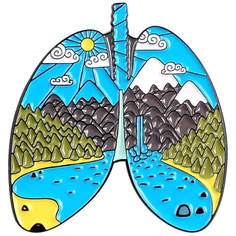 Lungs Adventure Pin - Expressionco