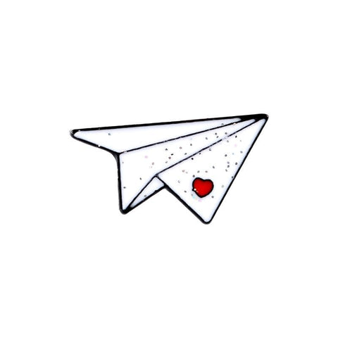Paper Airplane Pin - Expressionco
