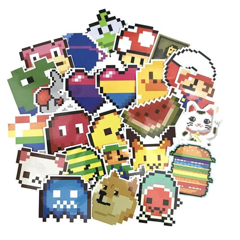 Pixel Game Sticker Bomb - Expressionco