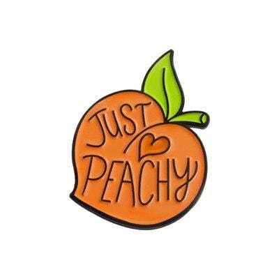 Just Peachy Peach Pin - Expressionco