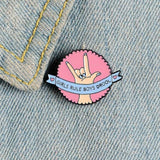 Girls Rule Boys Drool Pin