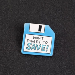 Funny Floppy Disk Pin