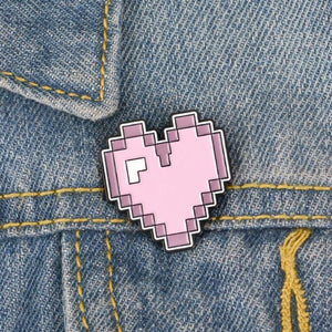 Pixel Heart Pin