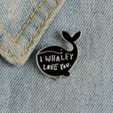 I Whaley Love You Whale Pin - Expressionco